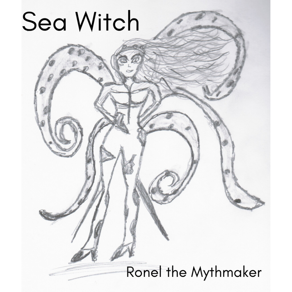sea witch sketch